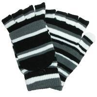 Grand Sierra Women's Striped Convertible Mitten to Glove
