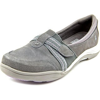 Grasshoppers Chase Women Round Toe Suede Gray Loafer