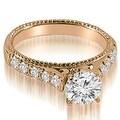 1.75 cttw. 14K Rose Gold Vintage Cathedral Round Cut Diamond Bridal Set - Thumbnail 1
