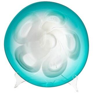 Cyan Design Small Flower Power Plate Flower Power 16 Inch Diameter Glass Decorative Plate