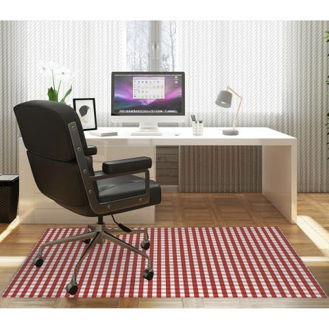 RED GINGHAM DREAM Office Mat By Kavka Designs