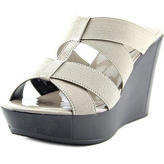 Charles By Charles David Farther Women Open Toe Canvas Wedge Sandal