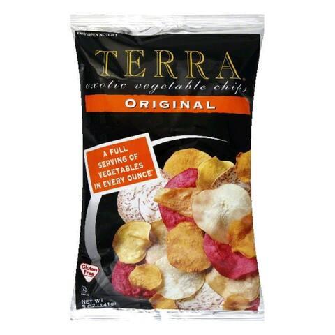 Terra Chips Chip Exotic Veggie Original, 5 OZ (Pack of 12)