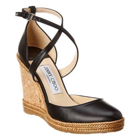 Jimmy Choo Alita 105 Leather Wedge Sandal