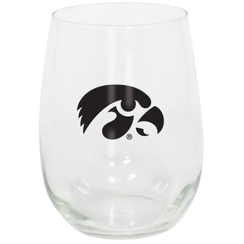 Iowa Hawkeyes Stemless Wine Glass