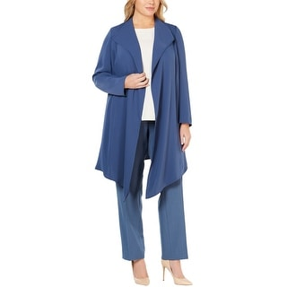 Link to Anne Klein Womens Draped Jacket, blue, 1X Similar Items in Women's Outerwear