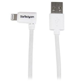 Startech.Com 1M 3' Angled Lightning To Usb Cable For Iphone/Ipod/Ipad, White (Usblt1mwr)
