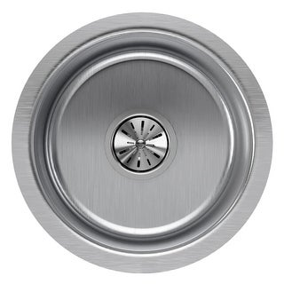 """Elkay ELUH12FB The Mystic 14-3/8"""" Single Basin 18-Gauge Stainless Steel Kitchen Sink for Undermount Installations with"""