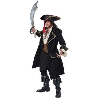 California Costumes Deluxe Pirate Captain Adult Costume - Black (2 options available)