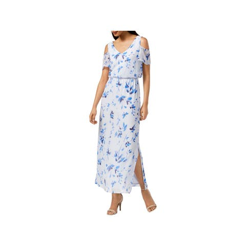 a3980e6fb Nine West Womens Maxi Dress Chiffon Cold Shoulder