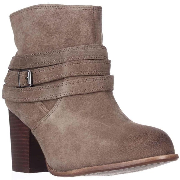 Splendid Laventa Strapped Ankle Boots, Latte Suede - 10 us