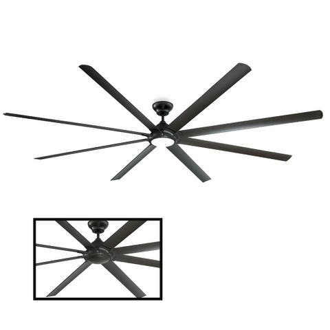 Hydra 120 Inch Eight Blade Indoor / Outdoor Smart Ceiling Fan with Six Speed DC Motor and LED Light.