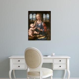 Easy Art Prints Leonardo da Vinci's 'Madonna of the Carnation' Premium Canvas Art