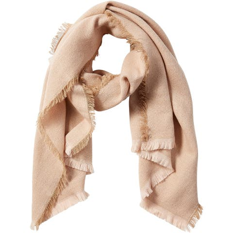 6.5' Solid Cream Beige Stylish and Fashionable Tickled Pink Evelyn Shimmer Scarf