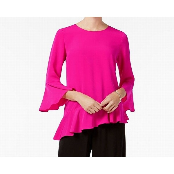 Shop MSK NEW Hot Fuchsia Pink Womens Size Large L Asymmetrical-Hem Blouse -  Free Shipping On Orders Over  45 - Overstock.com - 21805508 656384ce8