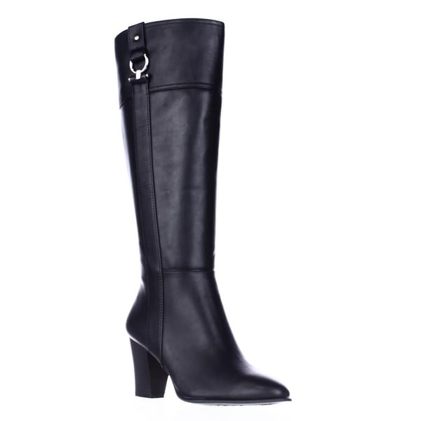 A35 Courtnee Knee High Dress Boots, Black