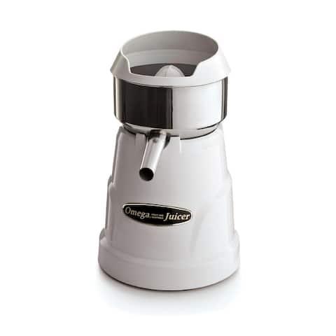Omega Juicers C-10W Professional Citrus Juicer, 400 RPM, White