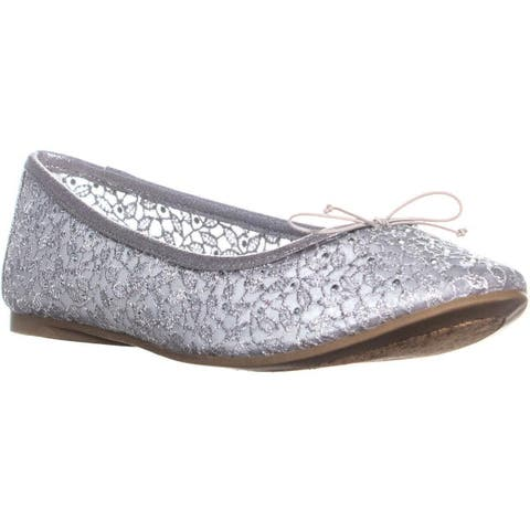 Adrianna Papell Shirley Bow Tie Ballet Flats, Silver