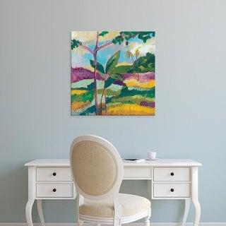 Easy Art Prints Jennifer Goldberger's 'Ode to Gauguin III' Premium Canvas Art