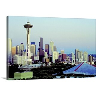 """Skyline of Seattle, Washington State"" Canvas Wall Art"