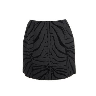 Carven Womens A-Line Skirt Wool Zebra Print - 40