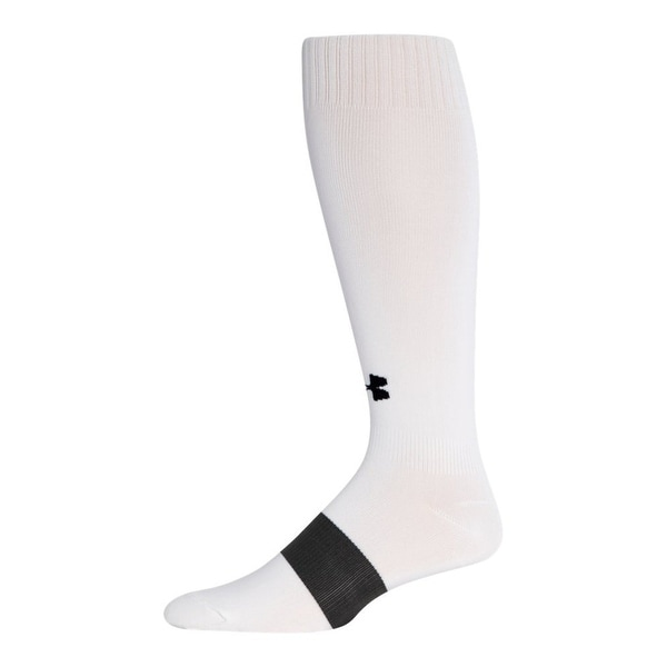 Under Armour Kids' Ua Soccer Solid Over The Calf Socks Youth Large White - yl