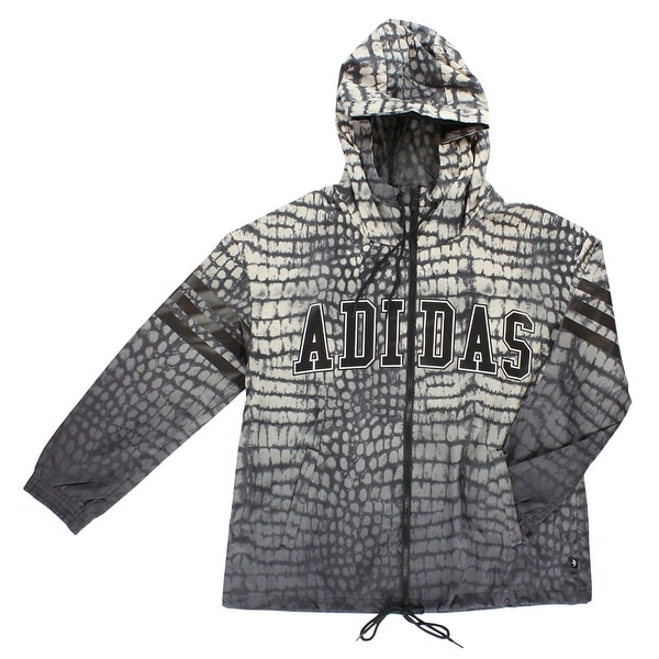 a6918457e8784 Shop Adidas Womens NY Printed Wind Jacket Light Tan - light tan black grey  - M - Free Shipping Today - Overstock.com - 22574058