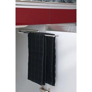 """Rev-A-Shelf 563-51 563 Series 2 Prong Towel Bar with 12"""" Slides - Chrome"""