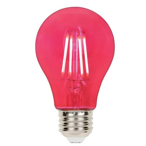 Westinghouse 5129000 Single 4.5 Watt Red A19 Medium (E26) LED Bulb - Pink
