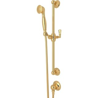 """Rohl 1330 Palladian Single Function Hand Shower with 24"""" Slide Bar, 59"""" Hose, and Wall Supply Outlet"""