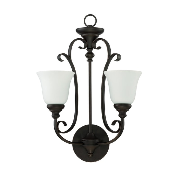 "Jeremiah Lighting 24222-WG Barrett Place 2 Light Wall Sconce - 23"" Tall"