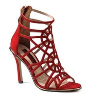 Luichiny Women's Ask A Girl Sandal Red Suede