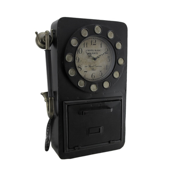 Time to Chat Antique Rotary Phone Wall Clock Key Cabinet - Shop Time To Chat Antique Rotary Phone Wall Clock Key Cabinet - On