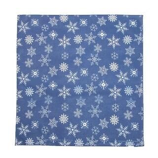 CTM® Glitter Snowflake Bandana - Blue - One Size