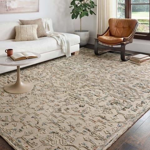 Alexander Home Diana Medallion 100% Wool Hooked Area Rug