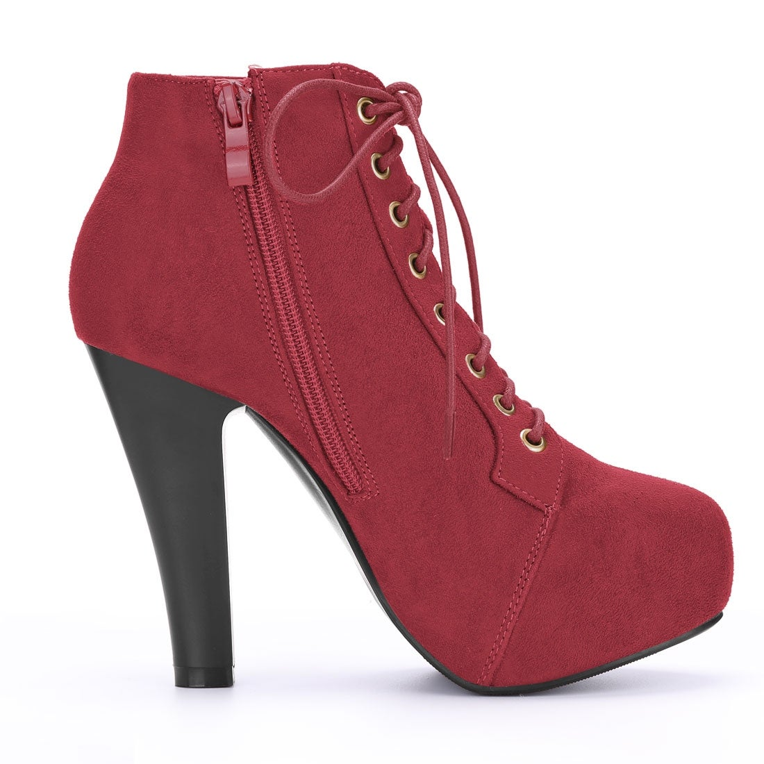 Details about  /Womens Low Heels Round Toe Ankle Riding Boots Lace Up Casual Fashion Shoes C908