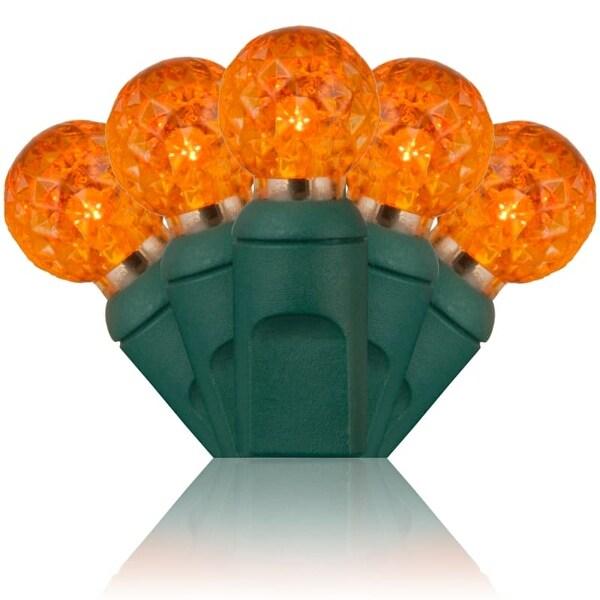 Wintergreen Lighting 50588 70 Bulb G12 Amber / Orange LED String Lights