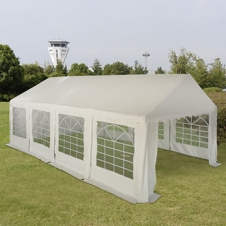 Costway 13'X26' Party Wedding Tent Shelter Heavy Duty Outdoor Canopy Carport White New