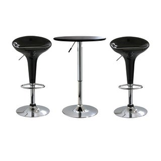Offex 3 Piece Adjustable Height Bar Set with Table and Stool