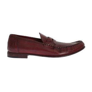 Dolce & Gabbana Dolce & Gabbana Red Leather Loafers Shoes - eu44-us11