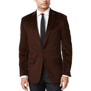 Ralph Lauren Dark Brown Solid Velvet Two-Button Sportcoat Blazer 40 Regular 40R