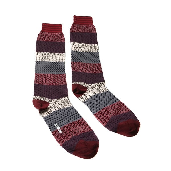 Missoni GM00COU5695 0003 Purple/Gray Calf Length Socks - M