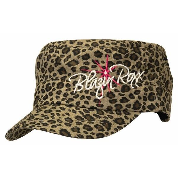 Shop Blazin Roxx Hat Womens Cheetah Military Logo OSFA Green - Free ... 7ac79554e9