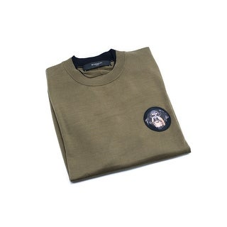 Givenchy Mens Olive Cotton Dog Patch Sweatshirt