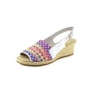 Easy Street Alyssa Open Toe Synthetic Wedge Sandal