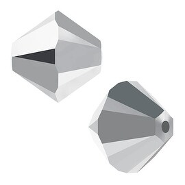 Swarovski Crystal, 5328 Bicone Beads 4mm, 24 Pieces, Crystal Light Chrome 2X