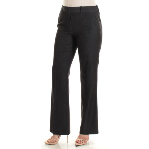 TOMMY HILFIGER Womens Navy Straight leg Wear To Work Pants Size: 6