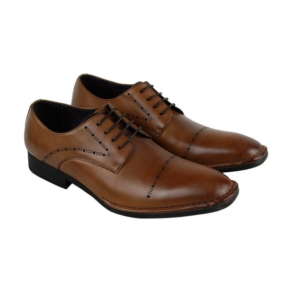 Kenneth Cole New York Split Second Mens Brown Casual Dress Oxfords Shoes