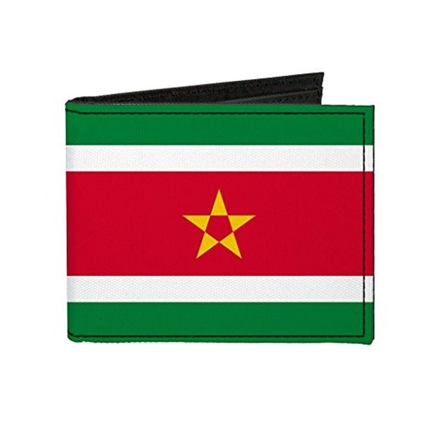 Buckle-Down Canvas Bi-fold Wallet - Suriname Flag Accessory