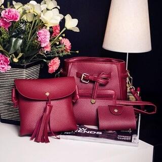 Women Four Set Fashion Handbag Shoulder Bag Four Pieces Tote Bag Crossbody Wallt